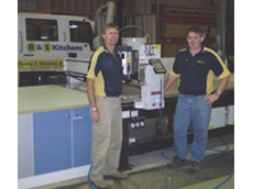 B&S Kitchens owner Steve Whitton (left) and production manager Robert Blinman (right)