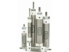 Delrin (Acetal) end cap stainless steel cylinders
