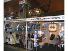 Dust collectors by Polex at National Manufacturing Week.
