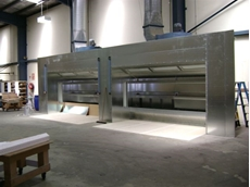 Wet spray booth system