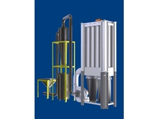 The Econo 3000 shaker type dust collector collects both the shells and any fine dust produced in plastic bags