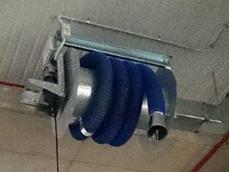 Polex installs vehicle exhaust hose reels