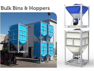 Bulka Bins, Maxi Bins, Silomaster Storage and Hoppers by PolyMaster Industrial