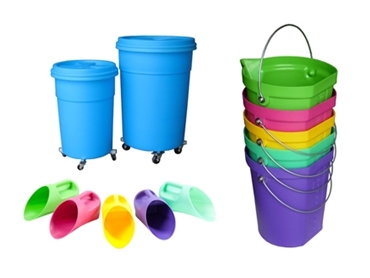 Durable and lightweight Poly Buckets and Poly Scoops