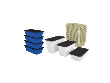 Space Saving Storage Tubs are easily stackable