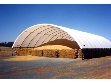 Effectively cover hay with Shelters and Shelter Covers from Polytex