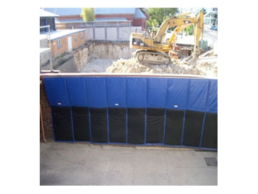 Industrial Polytex Tarps can be used as noise control screens