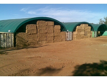 Polytex Tarps are ideal for effectively covering hay sheds