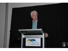 Pork CRC CEO, Dr Roger Campbell at Pan Pacific Pork Expo 2010