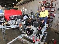 Yanmar diesel engines are specified for ThoroughClean's firefighting equipment and mine spec pressure cleaners