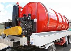 Yanmar TNV series diesel engine powers Vacvator vacuum excavator