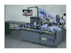 The 332 CNC FE electrohydraulic automatic band sawing machine.