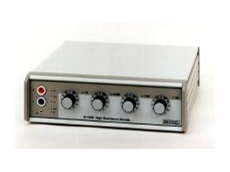 High resistance calibrator for measuring instrumentation.