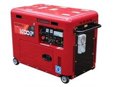 Diesel Generator 7.5KVA KOOP Silent 3 phase 415V /240V- Combo
