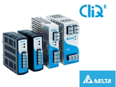 Delta CliQ DRP Series DIN Rail Power Supplies from Powerbox for Industrial Environments