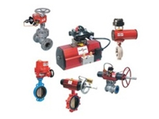 Actuated valves for the industrial sector