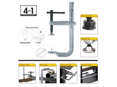 Strong Hand Tools ® 4 in 1 Utility Clamping System, One Clamp – Four Functions