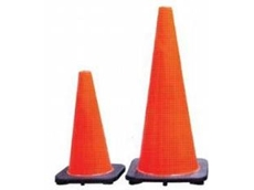 The visible orange traffic cones