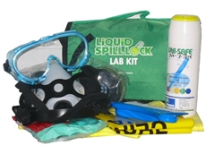 Laboratory chemical spill kits