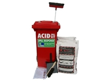 Mobile wheelie bin acid spill kits