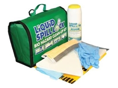 Liquid Spill Lock biohazard spill kits