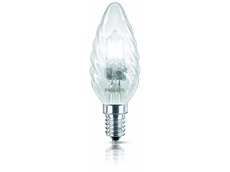 Philips Eco Classic 30 Series halogen lightbulb in the candle shape
