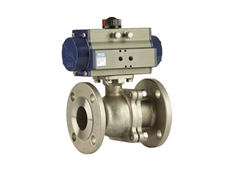 Flanged ball valves for industrial process applications