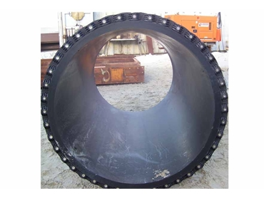 Link-Seal installed on a pipe of approximately 2m diameters