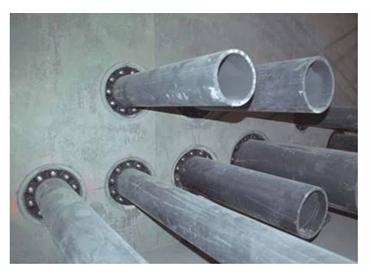 Link-Seal is used to seal multiple pipe penetration passing through a wall