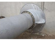 Model 'T' Link-Seal can seal pipe penetrations through concrete structures