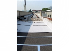 Shockmat is used on railway bridges for ballast protection