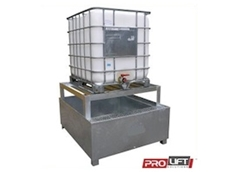 IBC-1110 Spill Bins with a support frame from Prolift Solutions