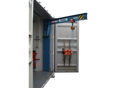 New Prolift Solutions slewing jib crane extends the use of shipping containers and increases safety