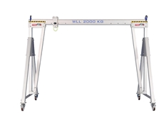 Prolift Solutions presents lightweight mobile aluminium gantry cranes with 2000kg WLL