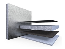 Sorberbarrier composite sandwich material