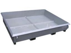 Concrete collection tray