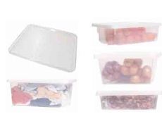 Food grade clear storage containers