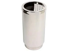 Large stainless steel bin ashtray/bin combination