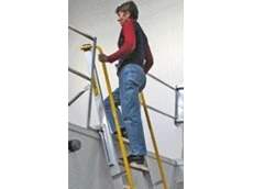 Mezzalad ladders with space saving mechanism