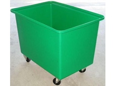 Rectangular tubs can be used in linen, food, factory bin and order picking applications