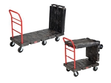 Convertible platform truck trolleys feature a unique design