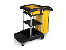 Rubbermaid 9T72 janitor carts offer high capacity storage solutions