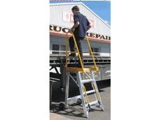 Stockmaster Step-Thru platform ladder