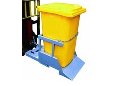 Wheelie tin tippers for forklifts are used for emptying standard 240 litre bins