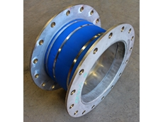 Small circular fabric expansion joint