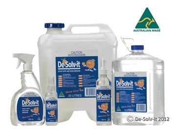 De-Solv-It is a citrus cleaning solvent that degreases and removes adhesive