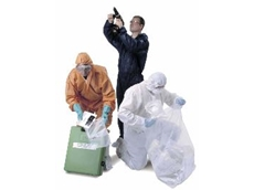 Comfortable disposable coveralls.