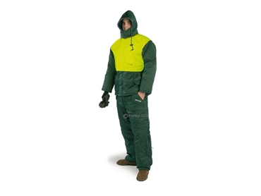 Freezer Jacket with utility pockets and fluro safety panels