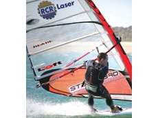 RCR Laser Sponsors Windsurfer during Sandy Point Speed Week