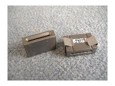 Rectangular EMI suppression ferrite cores